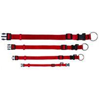 Trixie - Collier en nylon rouge Premium Taille S-m Largeur 15 mm Longueur 30/45 cm