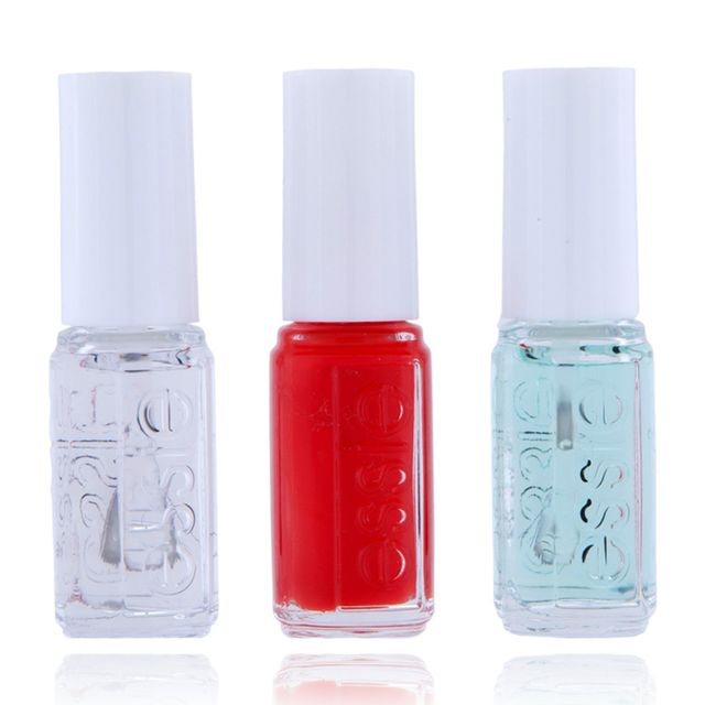 Essie - Mini Kit Routine - First Base Base Coat + Vernis Fifth Avenue + Good To Go Top Coat - 15ml Multicolore