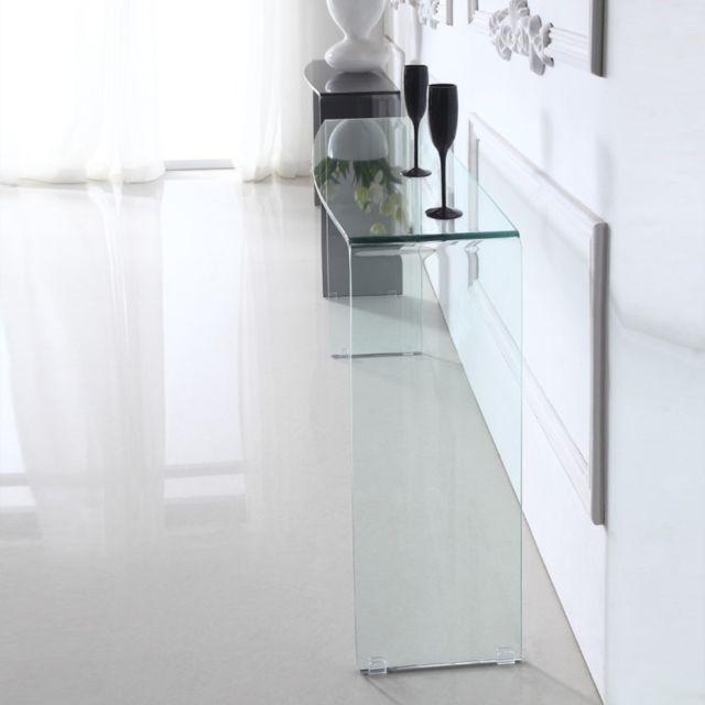 Meubler Design Console design en verre Aline