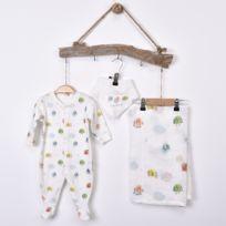 b6413d3302ca8 Sevira Kids - Kit naissance bébé 3 Pièces - Dors-Bien avec Bandana et Lange