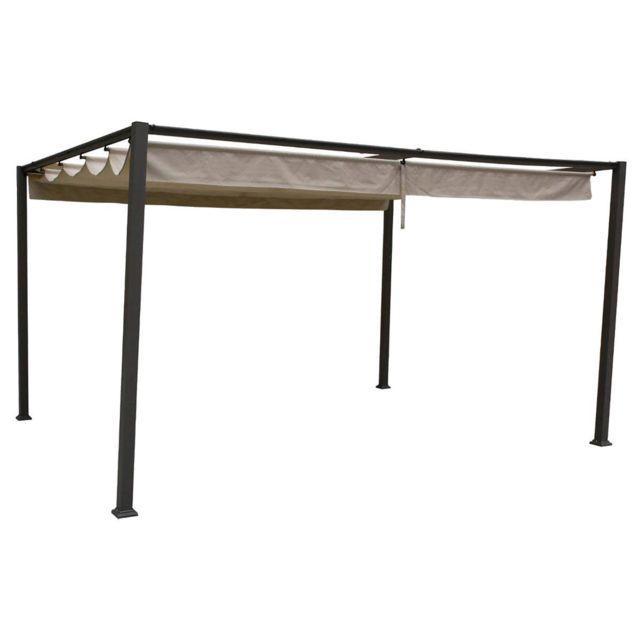 hesperide tonnelle de jardin palmeira 4 x 3 m sable pas cher achat vente pergola. Black Bedroom Furniture Sets. Home Design Ideas