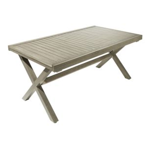 CARREFOUR - Table de jardin Honfleur extensible Marron - 160cm x ...