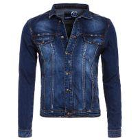 Rerock - Veste en jeans vintage bleue
