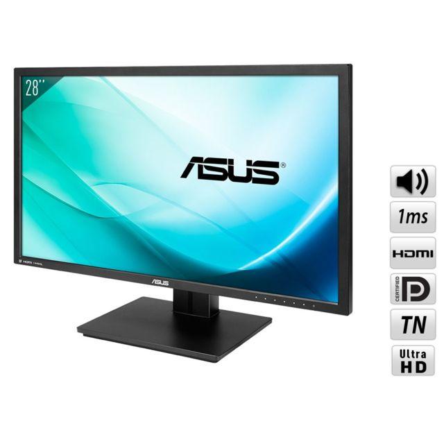"""ASUS PB287Q 28""""1ms Avec le PB287Q, préparez-vous à un niveau de détails à couper le souffle grâce à sa résolution 4K Ultra Haute Définition (4K UHD) 3840 x 2160."""