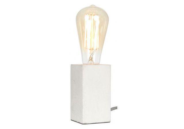 Declikdeco Lampe A Poser Bloc De Ciment Blanc Cimenlight