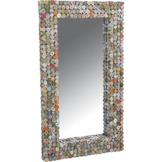 AUBRY GASPARD Miroir rectangulaire en papier recyclé