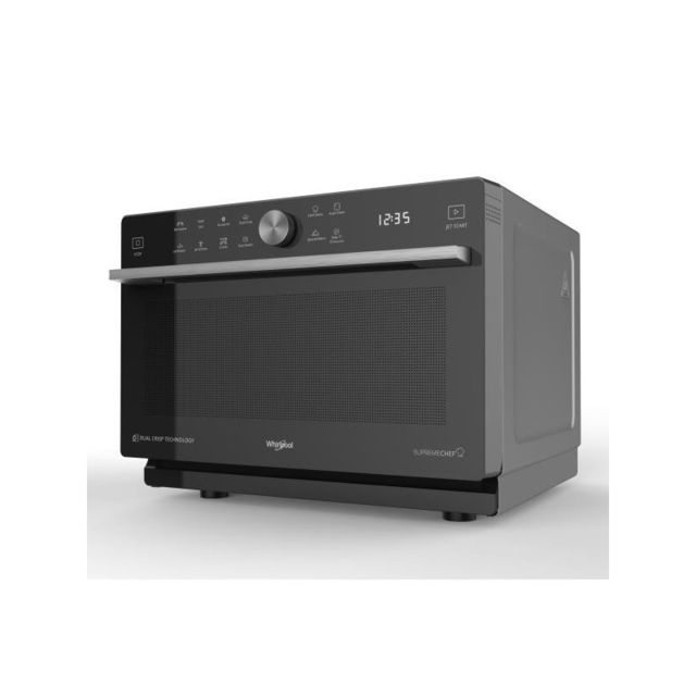 Whirlpool Micro-ondes posable 1000w + Grill 1200w, Supreme Chef, 33L, Chaleur Pulsée