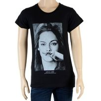 Little Eleven Paris - Tee Shirt Fille Little Seny Kristen Stewart Noir