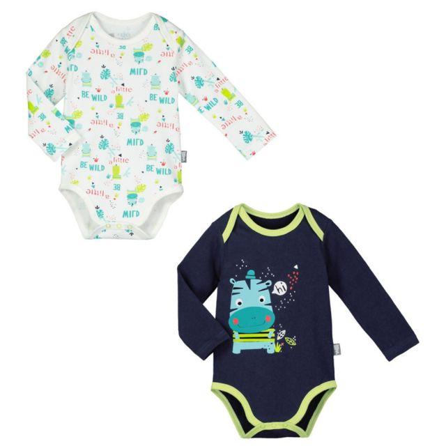 Petit Beguin - Lot de 2 bodies manches longues bébé garçon Tropic Boy -  Taille - 60b6907f2e5