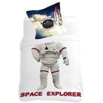 Dourev - Housse de couette 140x200cm et une taie Cosmonaute