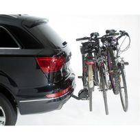 Mottez - Porte-vélos sur attelage, basculable, 4 vélos suspendus A009P4RA, fixation sur boule d'attelage