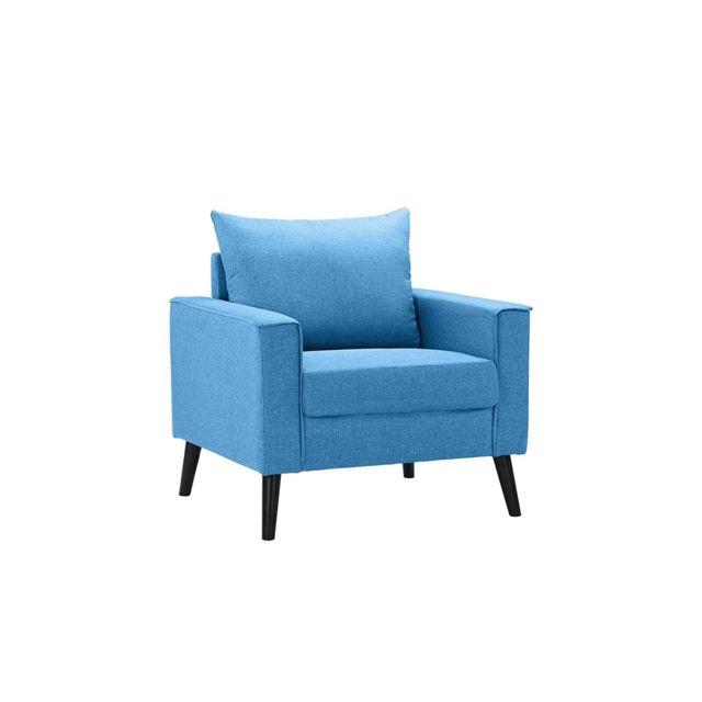 b h d eve fauteuil moderne contemporain tissu coloris bleu ciel pas cher achat vente. Black Bedroom Furniture Sets. Home Design Ideas