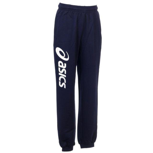 f763152f5212f Asics - Pantalon de survêtement Sigma navy blc pant jr Bleu 72522 - pas  cher Achat   Vente Survêtement enfant - RueDuCommerce