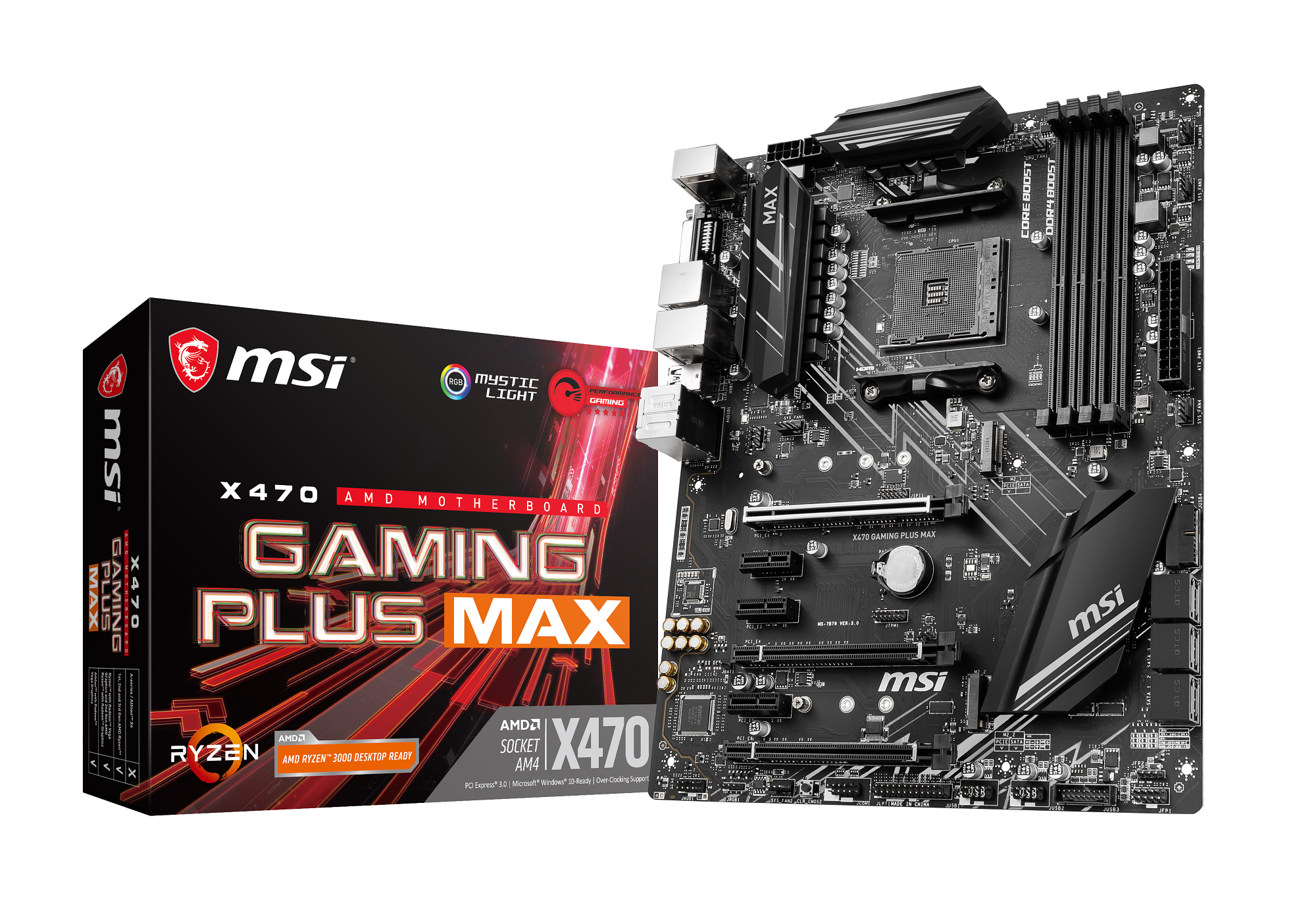 Carte mère AMD X470 Gaming Plus MAX MSI