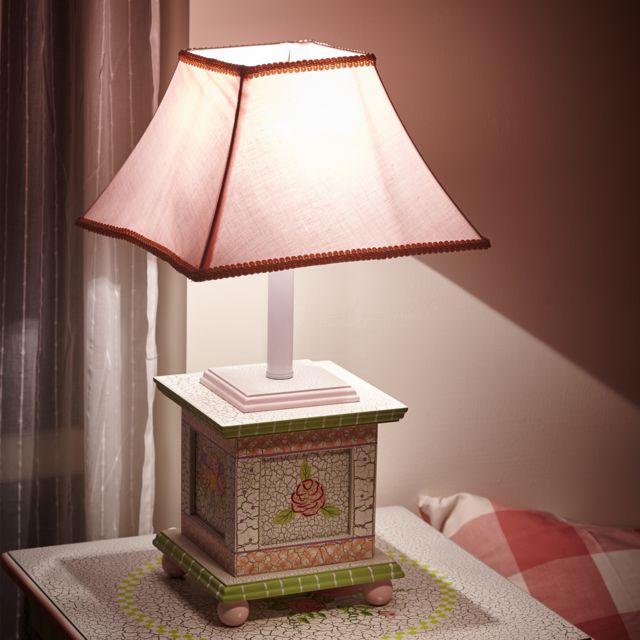 Lampe Enfant Cracked Rose Chevet Bureau Veilleuse Chambre Bébé Fille W 5069ge