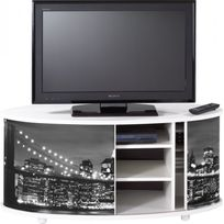 simmob meuble tv blanc grand ecran faade imprime coloris new york 500