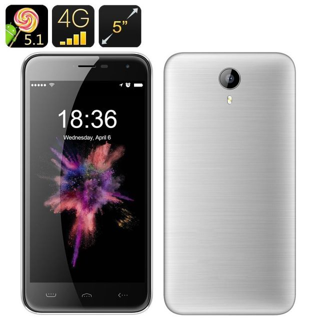 Yonis Smartphone 5 Pouces 4G Android 5.1 Dual Sim 13Mp Smart Wake Gps 16Go