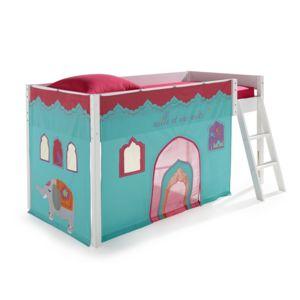 alin a indie tente pour lit enfant mi haut 90x190 ou 90x200cm pas cher achat vente rideaux. Black Bedroom Furniture Sets. Home Design Ideas