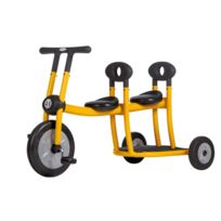 Italtrike - bi-tricycle 4/6ans 2place jaune