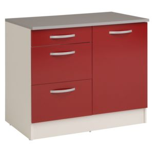 alin a eko cuisine meuble de cuisine bas pour vier avec tiroirs 100cm pas cher achat. Black Bedroom Furniture Sets. Home Design Ideas