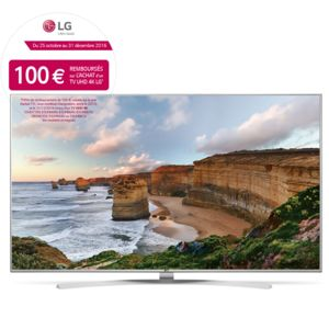 lg tv 55 pouces uhd 4k smart tv pas cher achat vente tv led de 50 39 39 et plus uhd 4k. Black Bedroom Furniture Sets. Home Design Ideas