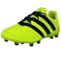 Ace 16.1 Fg Leather Chaussures de Football Homme Noir Jaune Sprintframe