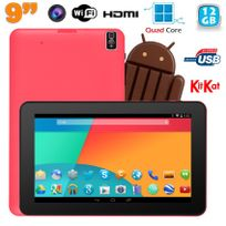 Yonis - Tablette tactile 9 pouces Android 4.4 Bluetooth Quad Core 12 Go Rose