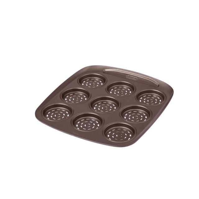 PYREX Mini pizza 9 cavités avec emporte pièce 6,50 cm métal Asimetria