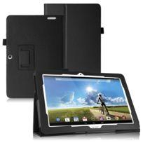 Shot - Housse de Protection Noir pour Sony Xperia Z3 Tablet Compact 8' Pouce Tablette Universelle Folio Rabat Simili-Cuir