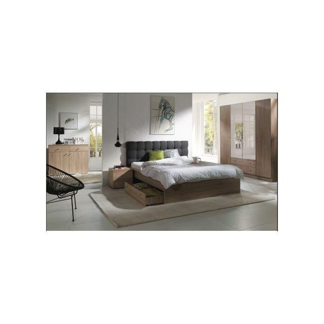 Price Factory Chambre à Coucher Complète Maxim Lit Adulte 160x200