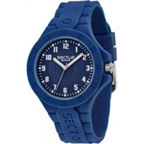 Sector Montres - Montre Sector Steeltouch R3251586007 - Montre Silicone Bleue Homme