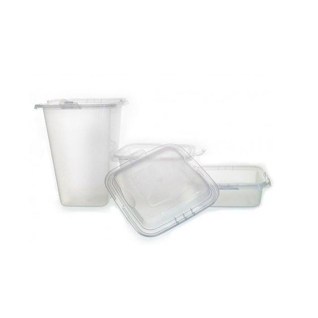 Totalcadeau Récipients en plastique avec couvercles - Rangement alimentaire