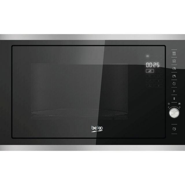 beko micro ondes gril encastrable 25l 900w inox noir. Black Bedroom Furniture Sets. Home Design Ideas