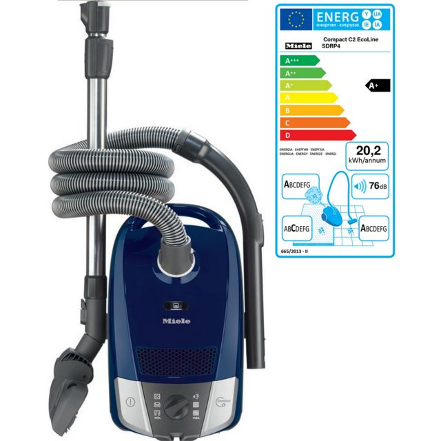 miele aspirateur traineau a caa 76db bleu compact c2 marine achat aspirateur avec sac silencieux. Black Bedroom Furniture Sets. Home Design Ideas