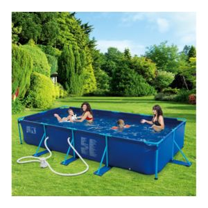 Carrefour piscine tubulaire puka puka l 4 57m x l 2 for Piscine autoportee intex leclerc