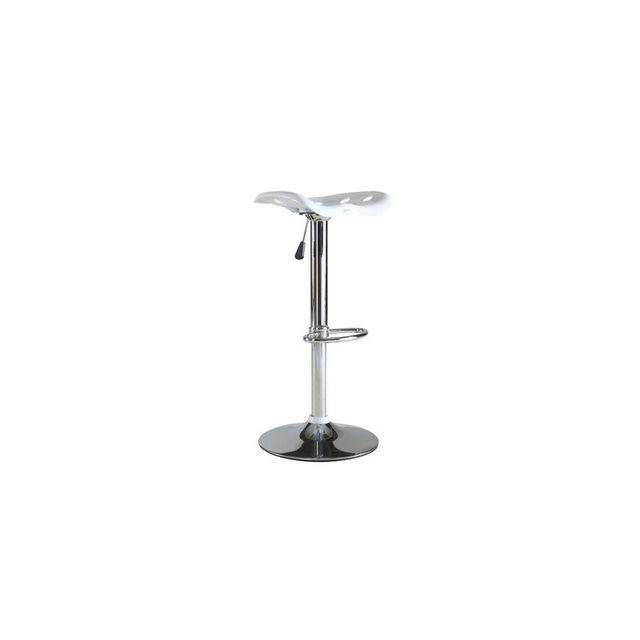 Rocambolesk Set Of 2 Tracto Barstools Chrome/BLANC