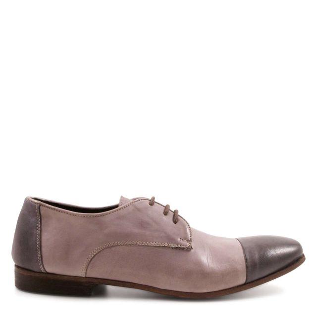 Leonardo Shoes Femme 24234DPAPUATORTORA Beige Cuir Chaussures À Lacets