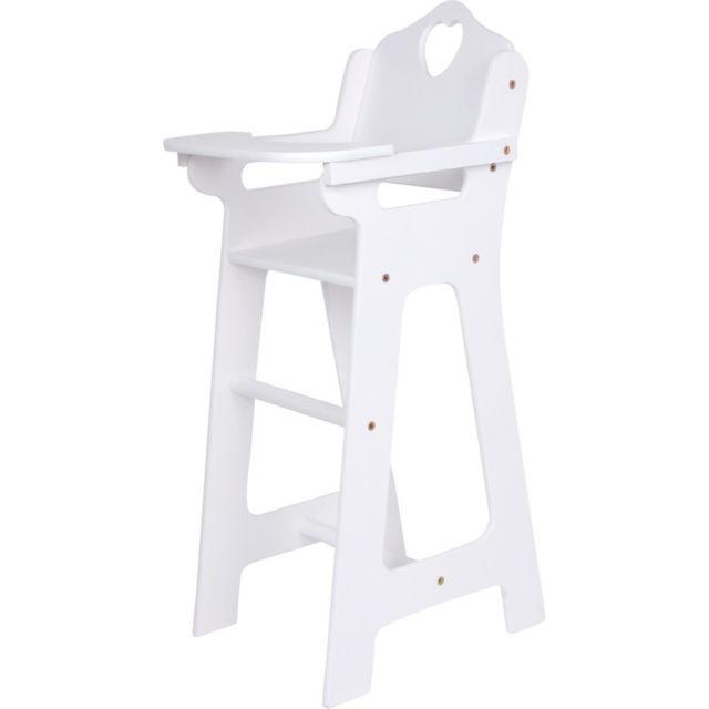 Small Foot Company Chaise haute pour poupée, blanche