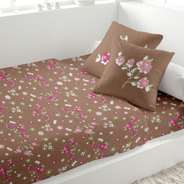 100pourcentcoton parure drap plat 240x290 cm drap housse 140x190 cm 2 taies d 39 oreiller lea. Black Bedroom Furniture Sets. Home Design Ideas