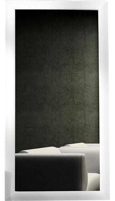 Comforium Miroir mural design bois coloris blanc
