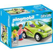 PLAYMOBIL - Voiture de ville avec maman et enfant - 5569