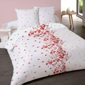 top housse de couette x cm microfibre fleur japonaise taies duoreiller with housse couette japon. Black Bedroom Furniture Sets. Home Design Ideas