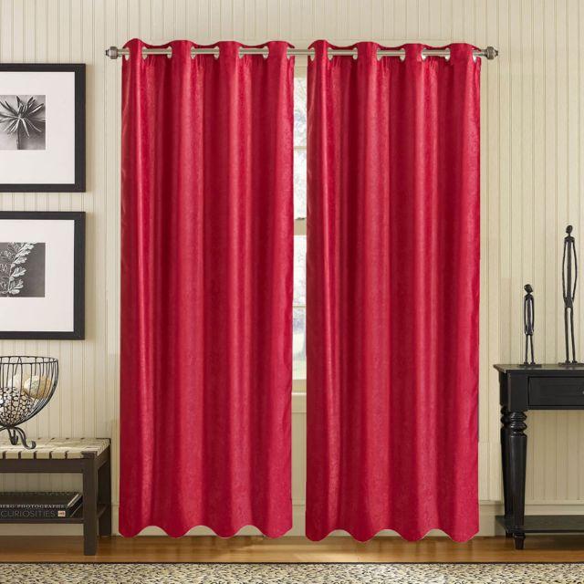 Best Interior Rideau Occultant Rouge Victor Dimensions 140x260cm