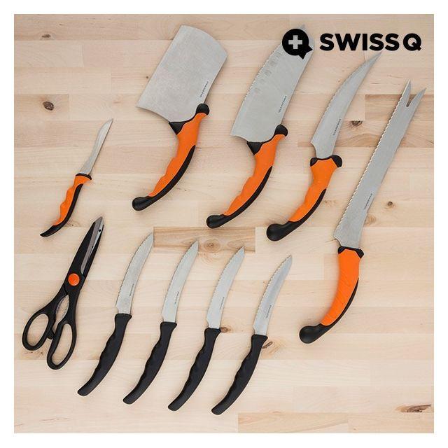 Totalcadeau Couteaux de cuisine 10 pièces en inox - Set d ustensiles