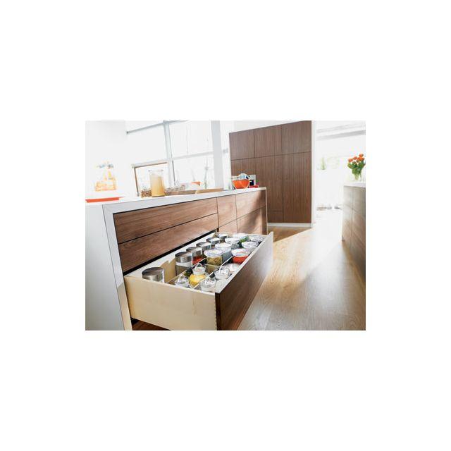 blum coulisse invisible pour tiroir bois sortie totale charge 30 kg avec amortisseur. Black Bedroom Furniture Sets. Home Design Ideas