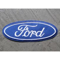 Universel - Patch ford logo oval bleu thermocollant auto 10x7cm