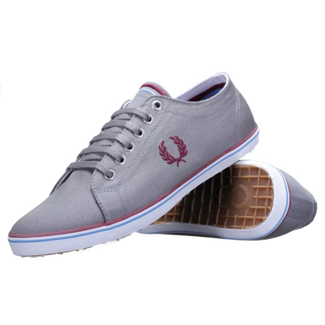 ec95c1358d1 Fred Perry - Chaussure Kingston Twill B6259 119 Cloudburst Gris - pas cher  Achat   Vente Baskets homme - RueDuCommerce