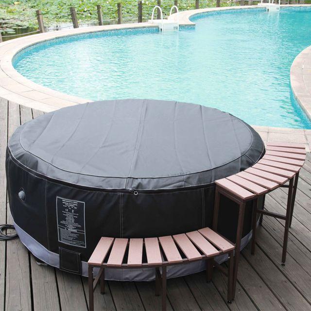 Waterclip meuble pour spa gonflable haut et bas pas cher achat vente spa gonflable - Meuble spa gonflable ...