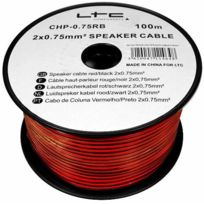 Ltc Audio - Câble pour enceinte / hp 2x0.75 mm² 100 m Ltc 75RN