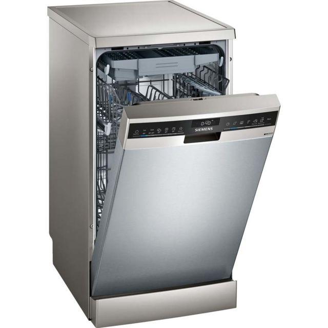 SIEMENS lave-vaisselle 45cm 10c 44db a++ pose-libre inox - sr23ei28me